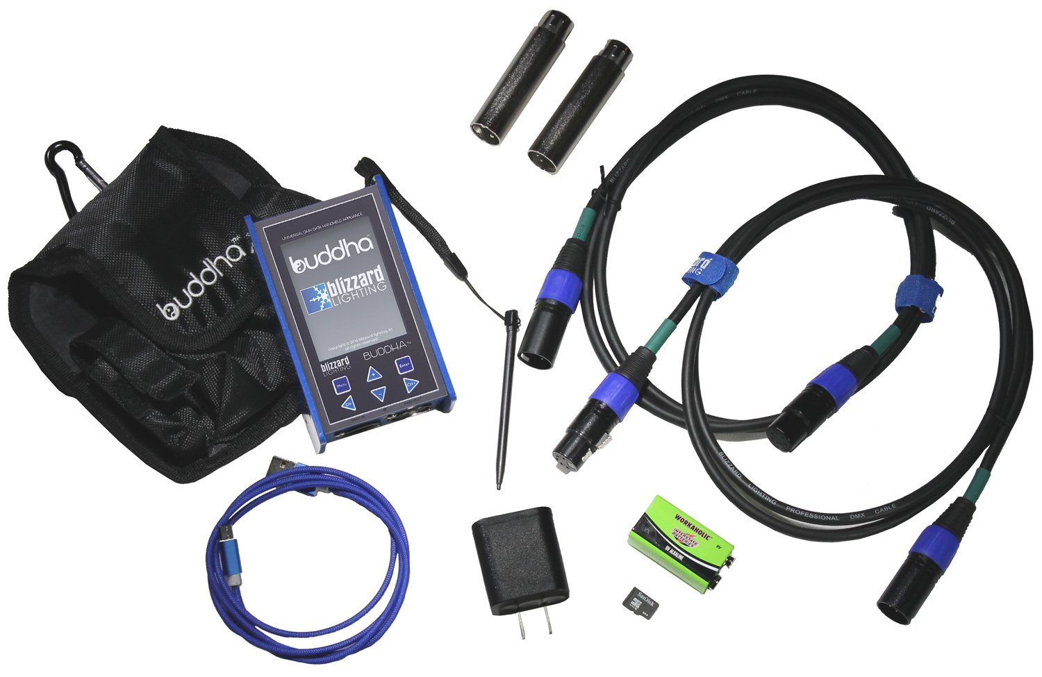 Advanced DMX Test Tool with Color Touchscreen, Case and DMX Adapter