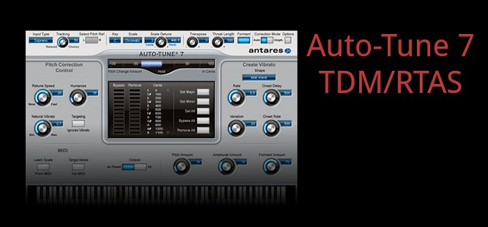 Antares Auto-Tune 7 TDM/RTAS + AVOX 4 Pitch and Time Correction for Pro Tools Legacy Systems AT-VOCAL-STD-TDM-E