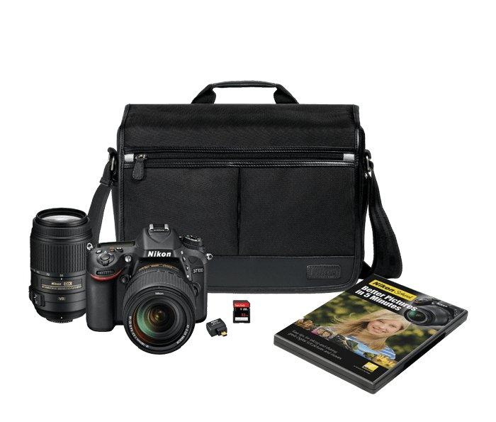 D7100 HDSLR Camera with 18-140mm and 55-300mm Lenses Ki