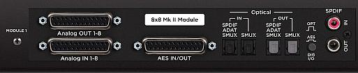 MKII Module 8 Analog I/O and 8 AES/Optcl I/O