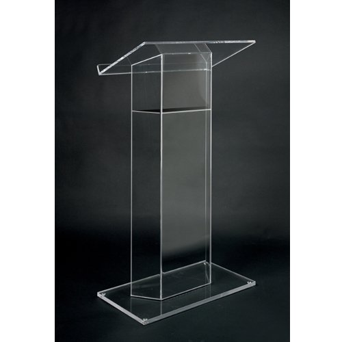 "Acrylic ""Wing"" Style RTA Lectern, Clear"