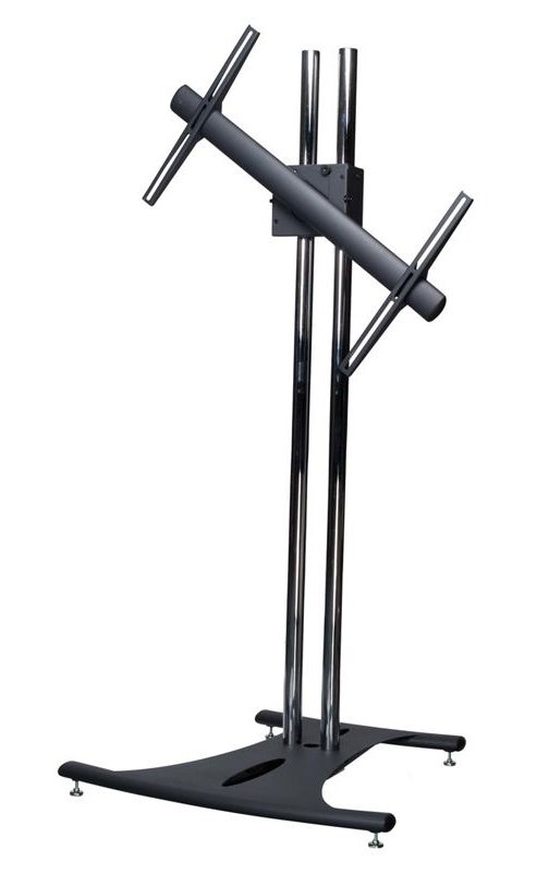 "Premier Mounts EB84-RTM  Floor Stand with 84"" Dual Poles and Rotating Mount, for Flat-Panels up to 160 lbs EB84-RTM"