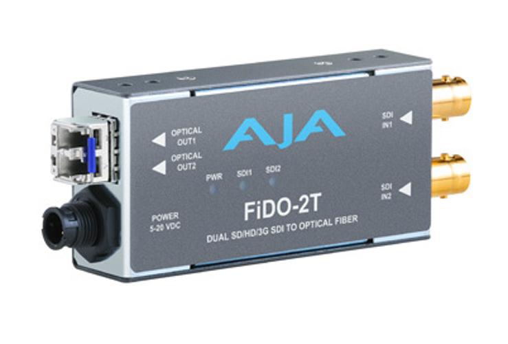 2 Channel SD/HD/3G-SDI to LC Fiber Converter wth Power Supply