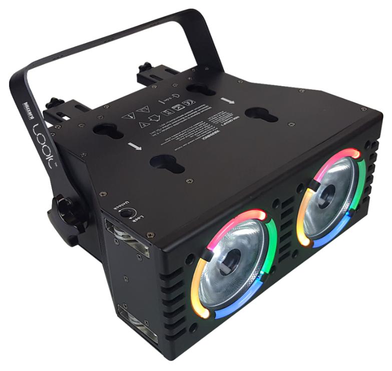 2x 60W RGBW Interlocking Dual LED Beam Fixture + Aura Effects