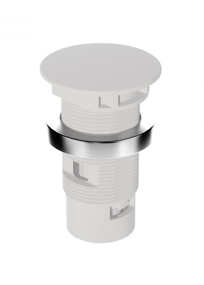 Shock-Mounted Installation Holder with Lid for Classis Microphones, 3-pin XLR, White