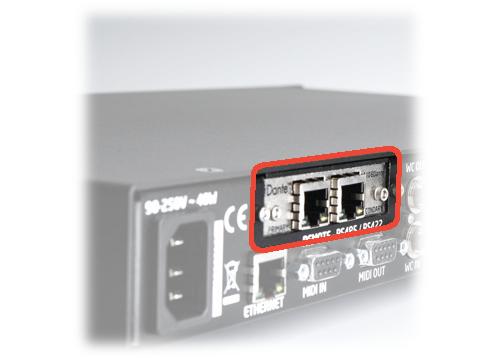 8-Channel A/D Dante Option for m108