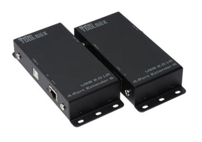 GefenToolBox USB 2.0 LR 4-Port Extender, Black