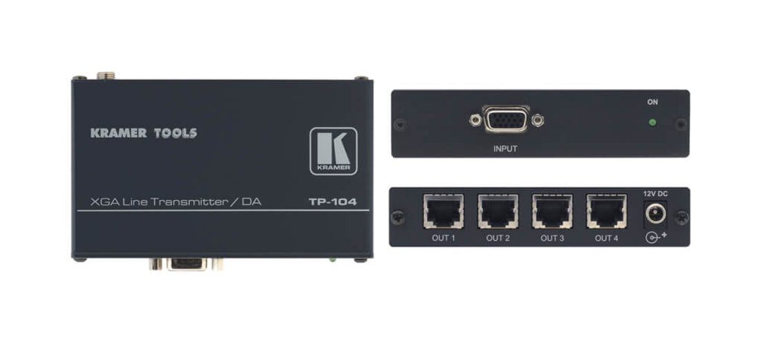 1:4 Computer Graphics Video & HDTV Transmitter & Distribution Amplifier