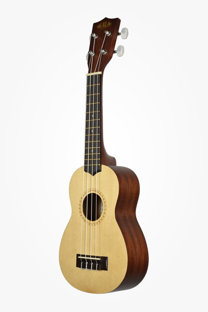 kala brand music co ka 15s s soprano ukulele with spruce top and mahogany back satin finish. Black Bedroom Furniture Sets. Home Design Ideas