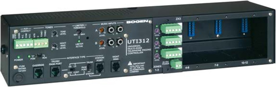 3 to 12 Zone Paging Controller with Paging Module