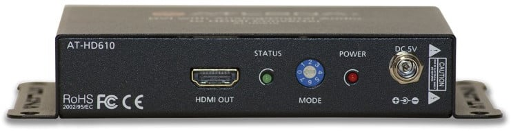 DVI with Analog/Digital Audio to HDMI Converter and Embedder