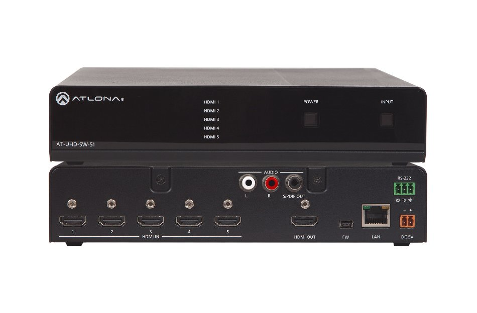 4K/UHD 5 Input HDMI Switcher with Auto-Switching
