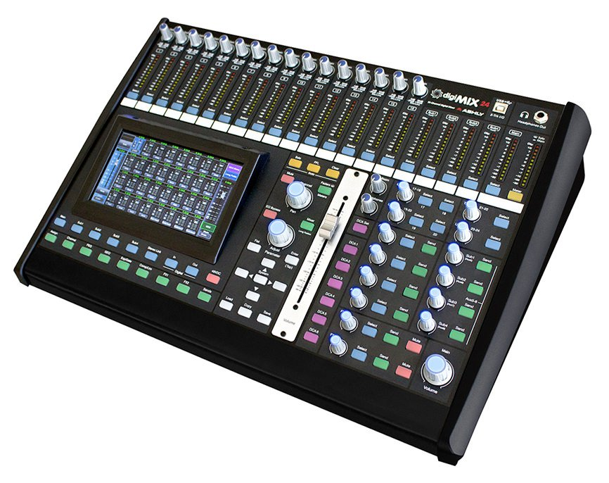 ashly digimix24 24 channel digital mixing console full compass. Black Bedroom Furniture Sets. Home Design Ideas