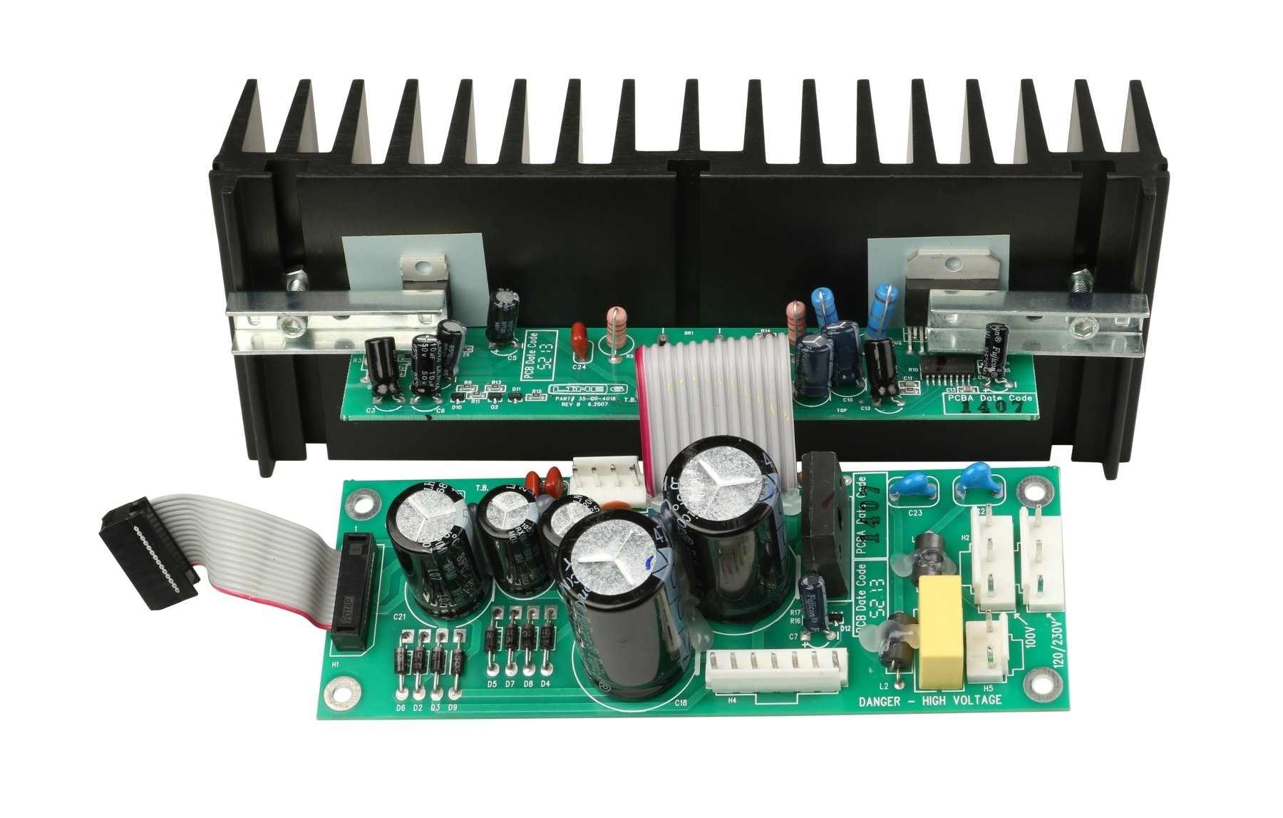 Power Amp with Heatsink PCB Assembly for Spider Jam