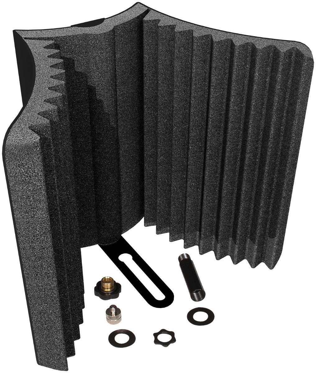 Auralex MudGuard v2 4-Pack (4) Microphone Shields with Hardware Mounting Kit MUDGUARD-V2-4PK
