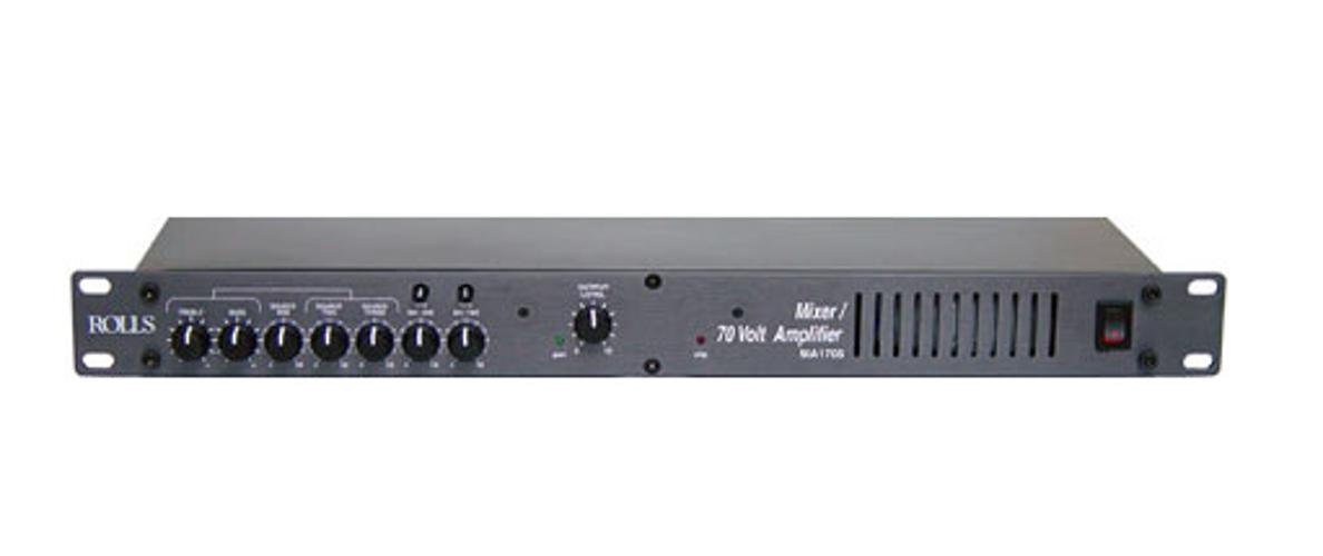 Mixer / Amplifier,  70w/70v