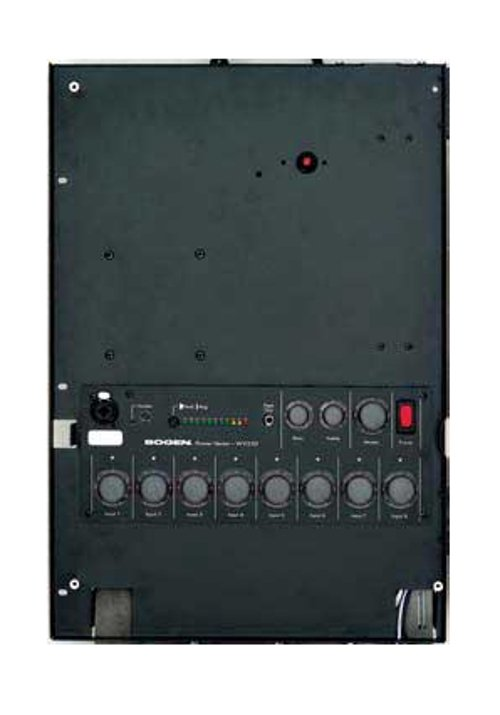 Mixer/Amp, Wall-Mount, 8 Module Bays, 100 Watts