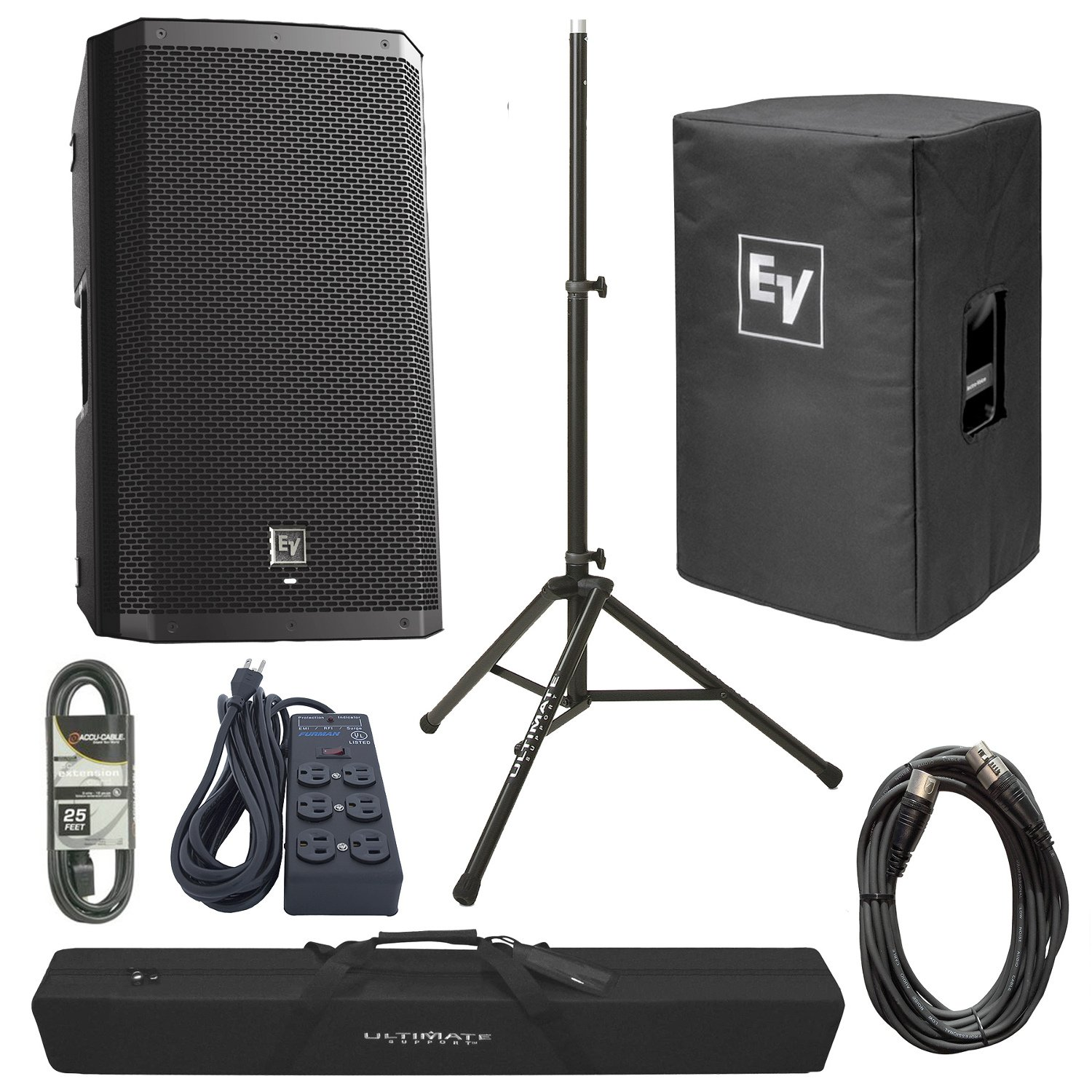 2-Way Powered Loudspeaker with Accessories