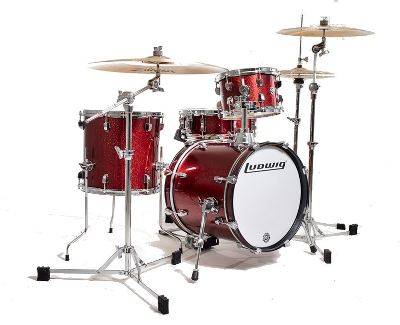 4-piece Breakbeats Series Questlove Shell Pack, Wine Red Sparkle Finish