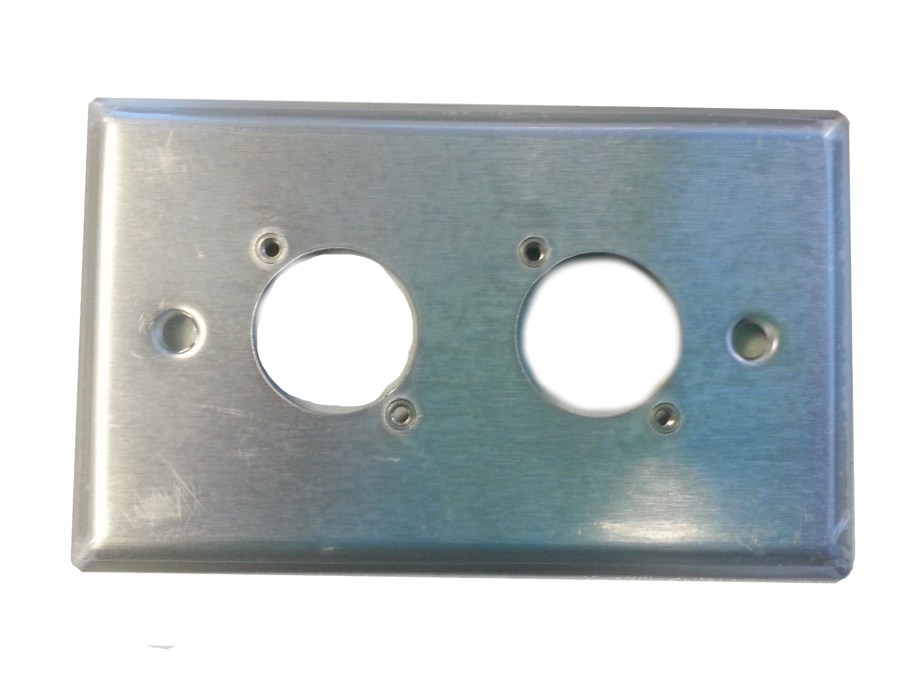 1 Gang 2 E/EH Connector Hole Wallplate in Stainless Steel