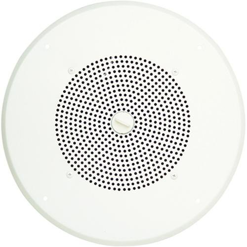 Ceiling Speaker with Bright White Grill and Volume Control