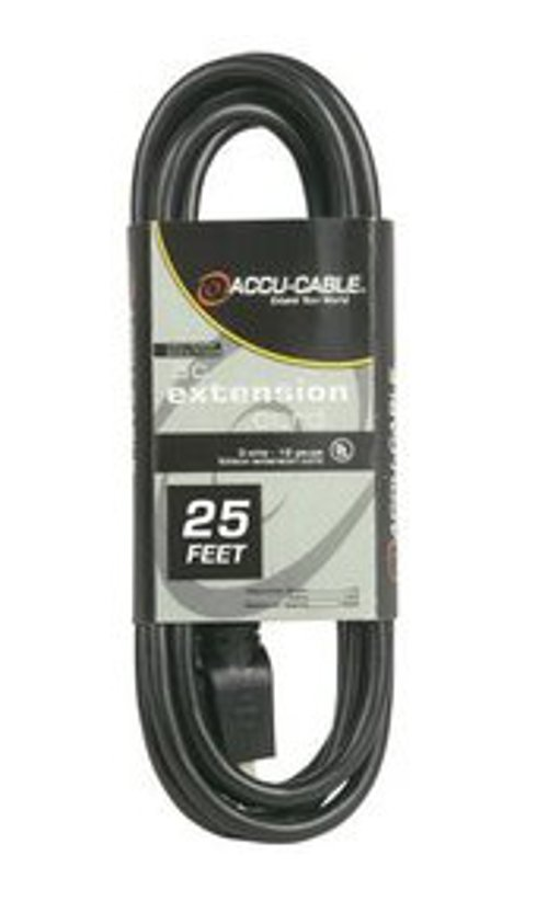 25' 12 Gauge AC Power Extension Cable