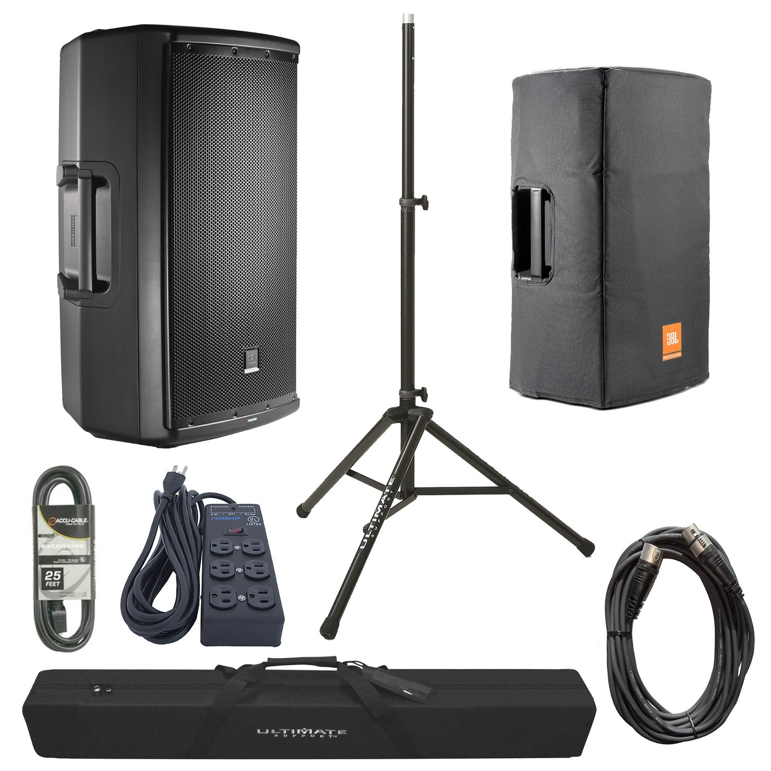 "15"" 2-Way Powered Loudspeaker with Accessories"