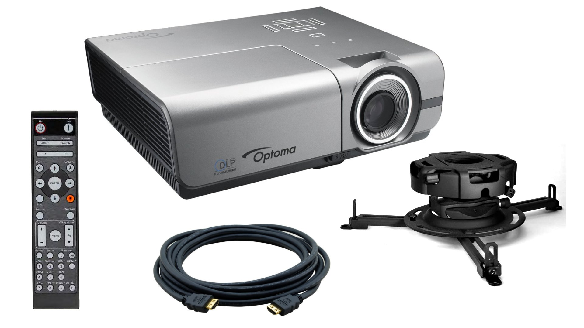 with EH500 Projector, Peerless Universal Mount & Kramer 25ft HDMI-HDMI Cable