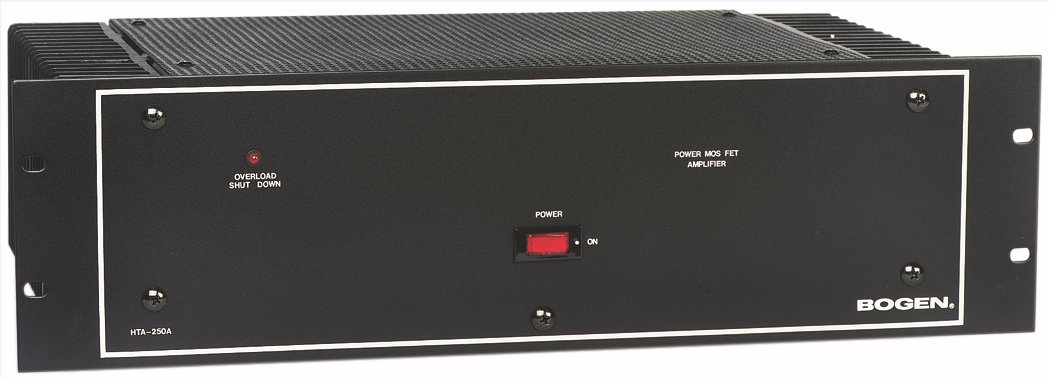 Power Amplifier, 250 Watt, 4-ohm/8-ohm/70V