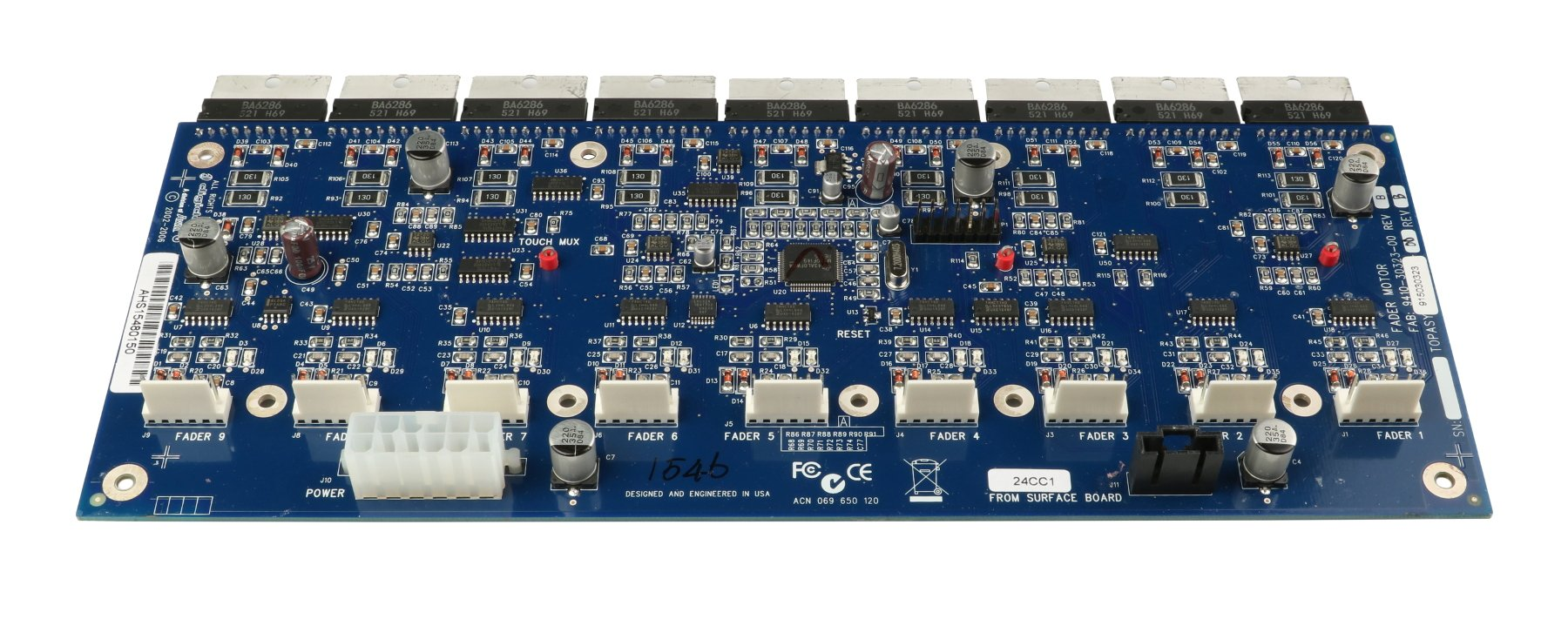 Fader Motor PCB Assembly for D-Show