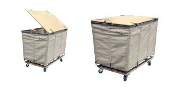 Reinforced 8 Bushel Hamper with Casters