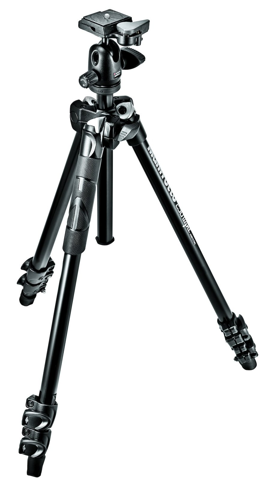 Manfrotto 290 Light Kit Aluminum Three-Section Tripod with Mini Ball Head MK290LTA3-BHUS