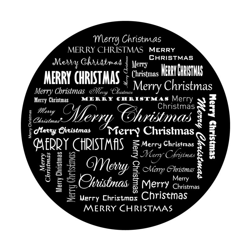 "Glass Gobo with ""Christmas Bundle"" Image"