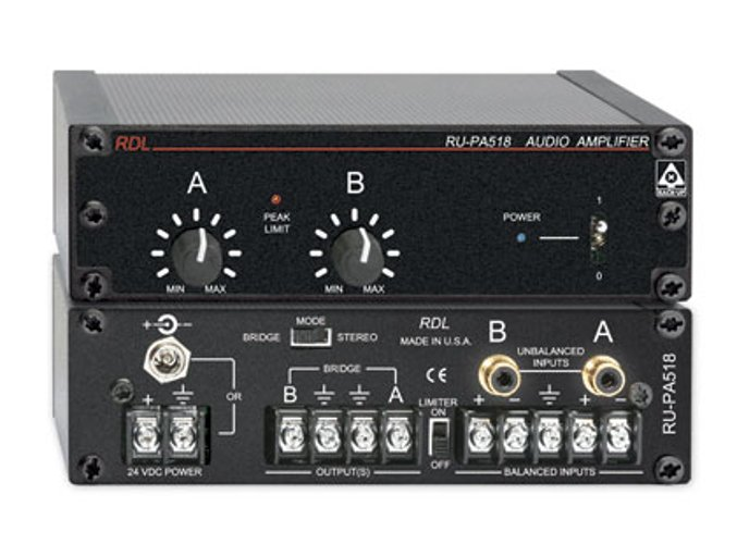 Rdl Rupa518 40w Stereo Audio Amp Vca And Supply W O Cord