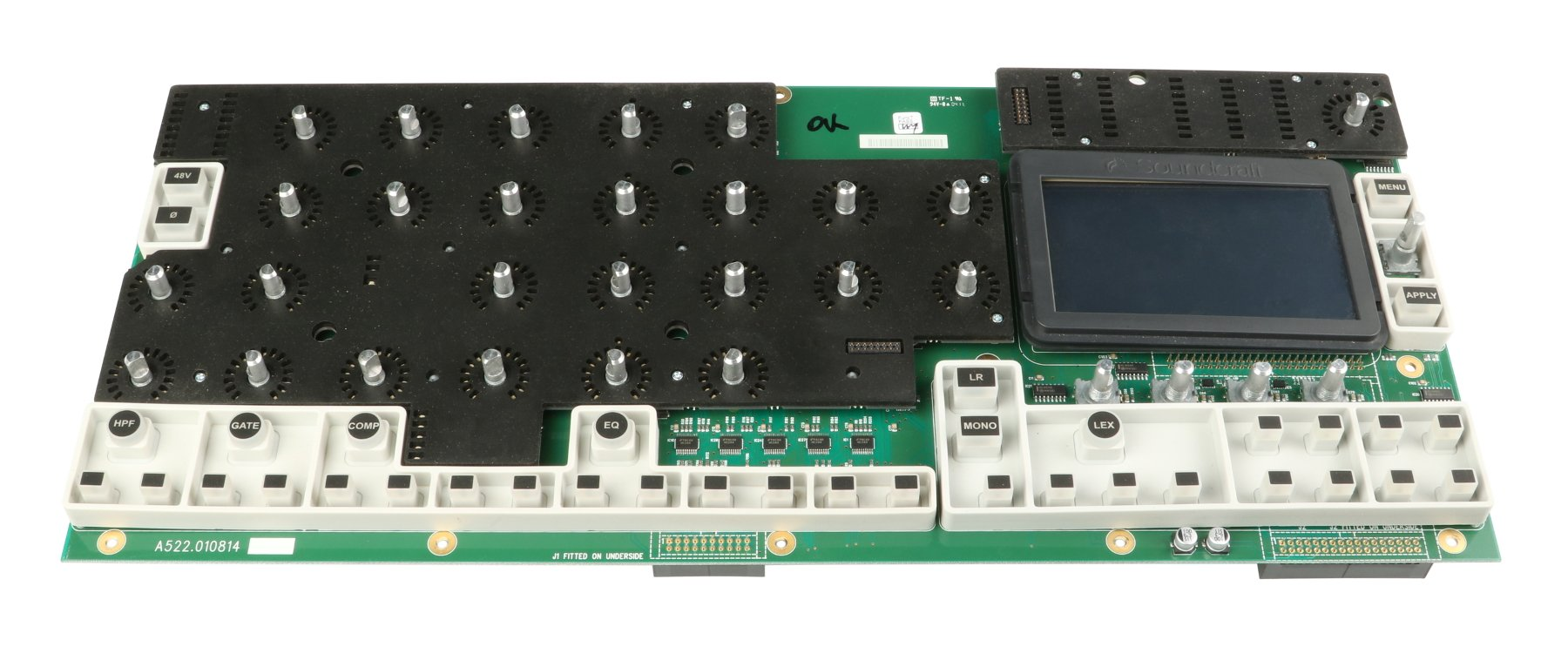 Soundcraft A522.104000 Main PCB Assembly with LCD Display for Si Compact A522.104000
