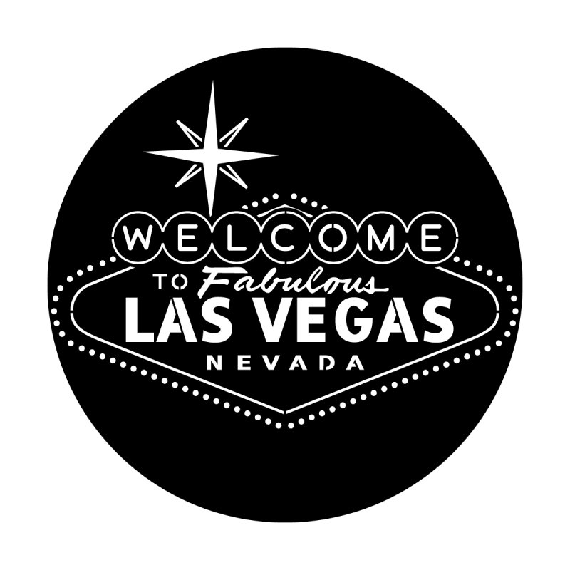 "Steel Gobo with ""Welcome to Vegas"" Image Pattern"