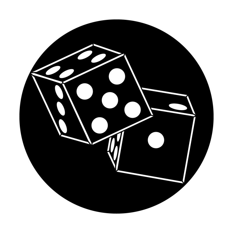 "Steel Gobo with ""Dice"" Image Pattern"
