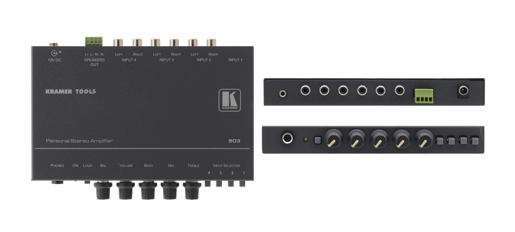 4x1 Personal Stereo Audio Amplifier & Switcher, 4 ohms