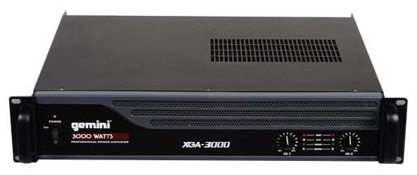 Gemini XGA-3000 3000W Power Amplifier XGA-3000