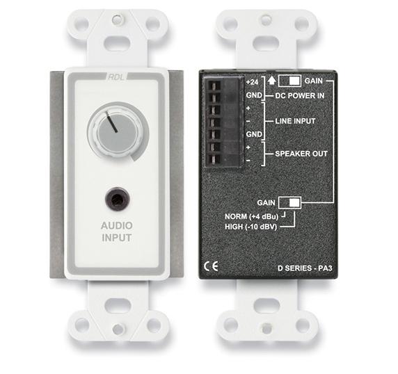 3.5 Watt Decora Audio Amp, Stainless Steel