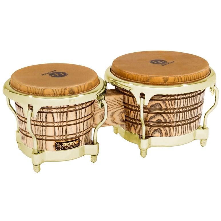 Latin Percussion LP793X  LP Galaxy Giovanni Series Wood Bongos, Gold Hardware LP793X