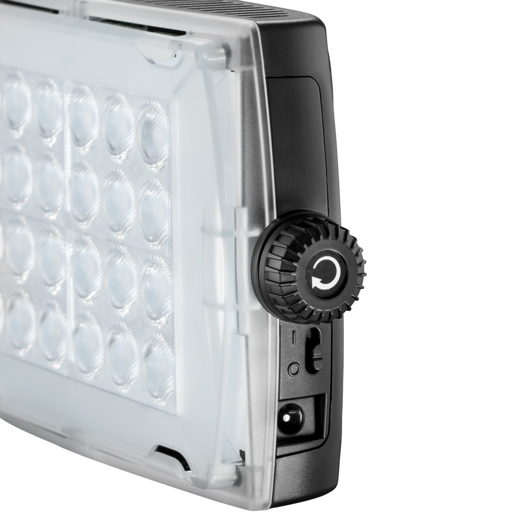 LED Fixture with Dimming Control and Gel Filter