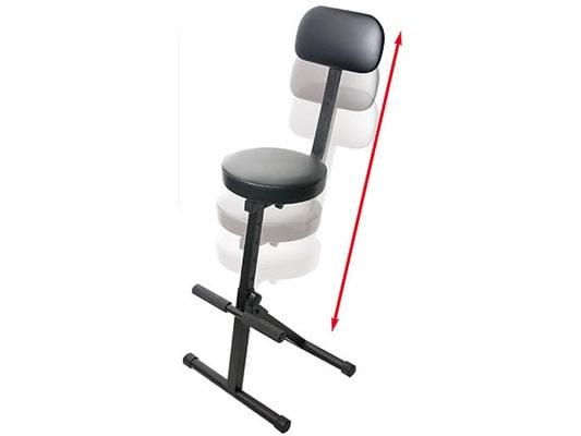 Odyssey DJ Chair Adjustable DJ Chair in Black DJCHAIR