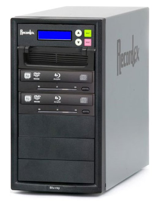 BD/CD/DVD Writer, 500 GB HD, 2 Target Drives