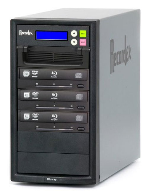 BD/CD/DVD Writer, 500 GB HD, 3 Target Drives