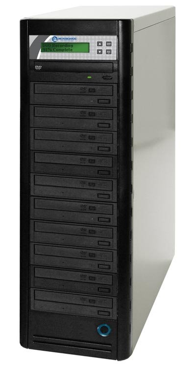 Microboards QD-DVD-H1210 1:10 Quick Disc CD/DVD Duplicator with 500GB Hard Drive QD-DVD-H1210