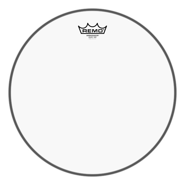 "14"" Ambassador Clear Snare Side No Collar Drumhead"