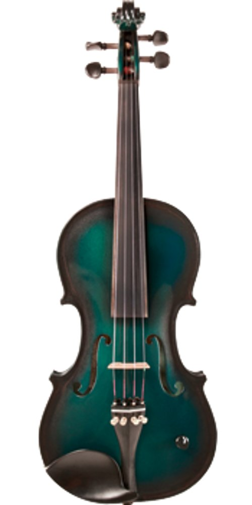 Green Acoustic/Electric Violin