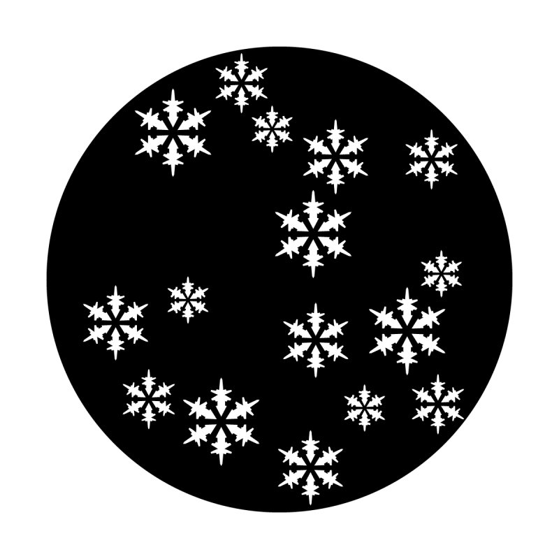 Snowflake Fall Steel Gobo
