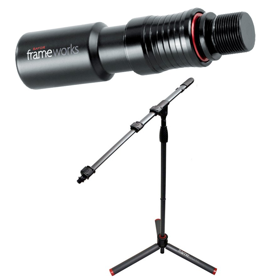 GFW-ID-MIC Microphone Stand with GFW-MIC-QRTOP Quick Release Attachment